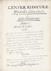 D'Avoust, L'Enfer ridicule, 1690.