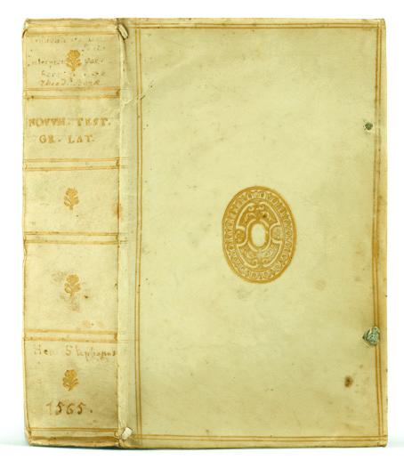 Beze, Théodore de. Iesu Christi D. N. Novum Testamentum. Henri Estienne, (Genève), 1565.