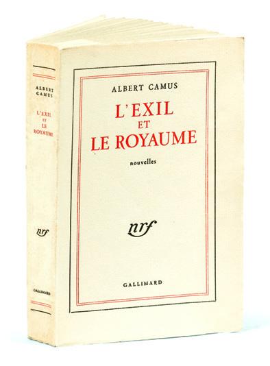 Camus, Albert. L'Exil et le royaume, 1957.