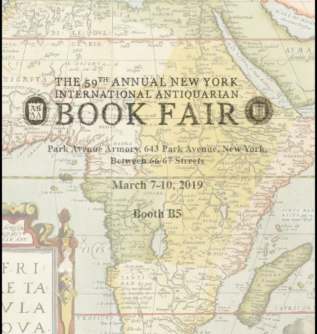 Our catalog for the New York Antiquarian Book Fair